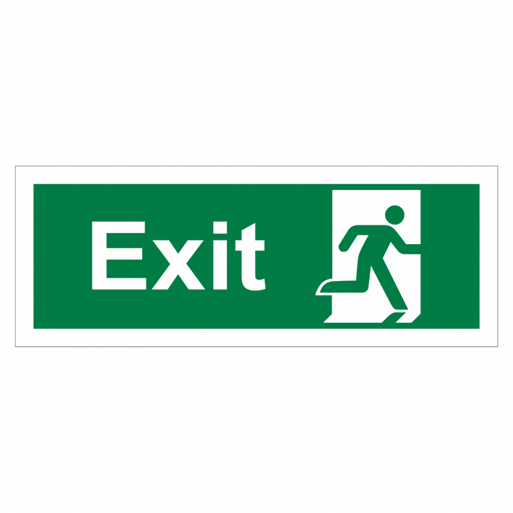 Exit Running Man Right Sign
